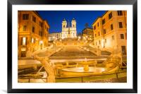 The Spanish Steps at dawn, Framed Mounted Print
