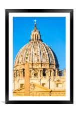 St Peter's Cathedral Cupola , Framed Mounted Print
