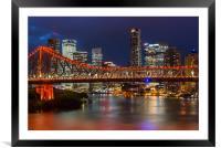 Story Bridge Brisbane, Framed Mounted Print