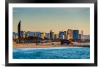 Barcelona beach, Framed Mounted Print