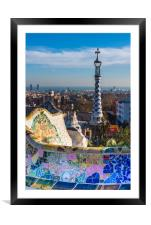 Park Guell houses, Framed Mounted Print