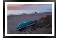 Beach of Les Deveses I, Framed Mounted Print
