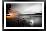 Lochness at Night, Framed Mounted Print