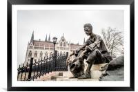 Attila Jozsef statue in Budapest, Framed Mounted Print