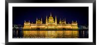 Budapest Parliament, Framed Mounted Print