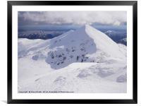 Stob Binnein in Winter, Framed Mounted Print