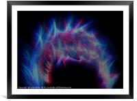 Colourful Fireball, Framed Mounted Print