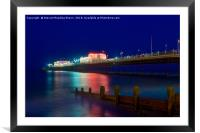 Worthing Pier At Night, Framed Mounted Print