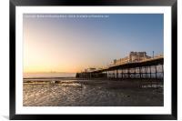 Worthing Pier Sunrise, Framed Mounted Print