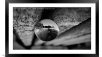 Winter In A Glass Ball                     , Framed Mounted Print