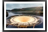 Ladybower Reservoir Plug Hole, Framed Mounted Print
