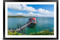 Old lifeboat station at Tenby Wales, Framed Mounted Print