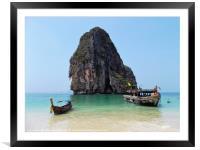 Thailand Beach, Framed Mounted Print