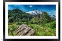 Dun More and Glen Lednock , Framed Mounted Print