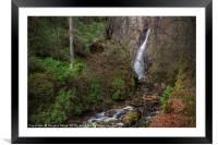 The Grey Mare's Tail Waterfall, Kinlochleven, Framed Mounted Print