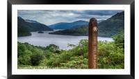 Loch Lomond from Cnap Mor, Framed Mounted Print