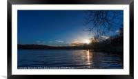 Sunset over Loch Venachar, Framed Mounted Print