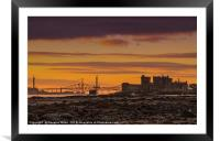 Blackness Castle and the Forth Bridges, Framed Mounted Print