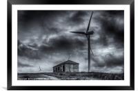 Pates Hill Wind Farm, Framed Mounted Print
