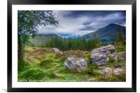 Ben More from the West Highland Way, Framed Mounted Print