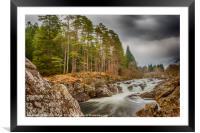 Easan Dubha Waterfall, Glen Orchy, Framed Mounted Print