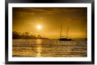 Blackness Bay, Framed Mounted Print