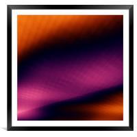 Fantasy sky depth colorful background, Framed Mounted Print