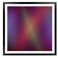 Neon colorful magic deep shine design, Framed Mounted Print