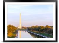 Washington Monument and Reflecting Pool, Framed Mounted Print