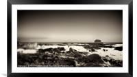 Bass Rock No. 3, Framed Mounted Print