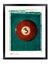 No. 3 Ball Polaroid Transfer, Framed Mounted Print