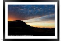 Sunsetting over The Old Man of Storr., Framed Mounted Print