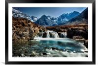 Fairy Pools, Isle of Skye., Framed Mounted Print