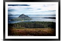 View of Holy Island, from The Isle of Arran., Framed Mounted Print