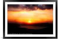 Sunsetting over Portree, Isle of Skye, Scotland, N, Framed Mounted Print