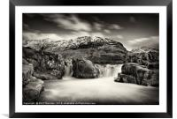 Waterfall on the River Etive, No. 2., Framed Mounted Print