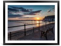 Rising Sun Saltburn Pier, Framed Mounted Print