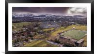 Snowy Pentland Hills, Edinburgh, Framed Mounted Print