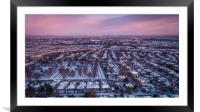 Snowy Edinburgh, Framed Mounted Print