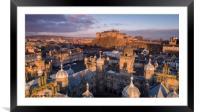 Edinburgh Castle Aerial, Framed Mounted Print