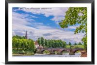 River Dee, Framed Mounted Print