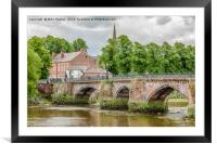 Handbridge on Dee, Framed Mounted Print