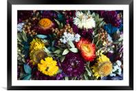 Colorful Flowers, Framed Mounted Print