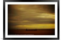 Storm Approaching St Annes, Framed Mounted Print