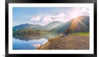 Sun Burst, Framed Mounted Print