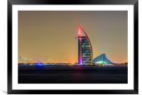 Burj Al Arab, Framed Mounted Print