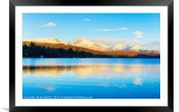 Winter reflections, Coniston Water, Framed Mounted Print