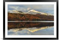 Coniston Water reflections, Framed Mounted Print