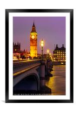 Evening on Westminster Bridge, Framed Mounted Print