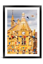 Bunting and public library, Framed Mounted Print